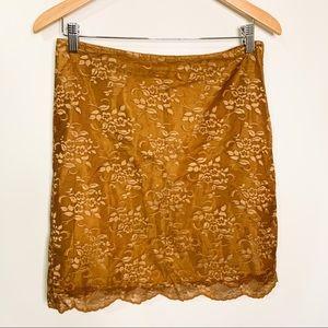 Free People Lace Mini Skirt